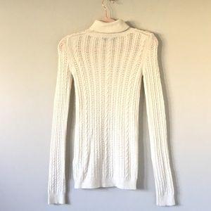 BCBGMaxAzria Sweaters - BCBG MaxAzria | Cream Cable Knit Sweater